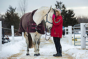 """Sandra Karaz has a close connection with her seven-year-old horse, Vaya Con Dios, which in Spanish means """"Go with God."""" She has many horses on her farm  in Wellington, Ont. and says that they fill her soul. They ground her. """"I love them,"""" she says.  On Jan. 20, 2016, it was cold enough for Vaya Con Dios to need a blanket to keep warm outside."""