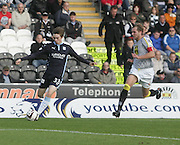 Dundee's Craig Wighton and St Mirren's Mark McAusland - St Mirren v Dundee, SPFL Premiership at St Mirren Park<br /> <br />  - &copy; David Young - www.davidyoungphoto.co.uk - email: davidyoungphoto@gmail.com