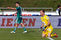31.05.2015, Stadion Wolfsberg, Wolfsberg, AUT, 1. FBL, RZ Pellets WAC vs SK Rapid Wien, 35. Runde, im Bild v.l. Louis Schaub (SK Rapid Wien) und Alexander Kofler (RZ Pellets WAC) // during the Austrian Football Bundesliga 35th Round match between RZ Pellets WAC and SK Rapid Vienna at the Stadium Wolfsberg in Wolfsberg Austria on 2015/05/31, EXPA Pictures © 2015, PhotoCredit: EXPA/ Wolfgang Jannach