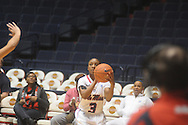 "Ole Miss' Valencia McFarland (3) vs. Grambling at the C.M. ""Tad"" Smith Coliseum in Oxford, Miss. on Saturday, December 3, 2011. Ole Miss won 78-53."