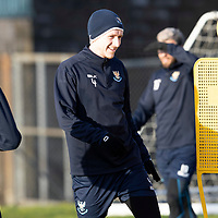 St Johnstone Training…19.12.18<br />Blair Alston pictured during training at McDiarmid Park ahead of Sunday's game against Rangers<br />Picture by Graeme Hart.<br />Copyright Perthshire Picture Agency<br />Tel: 01738 623350  Mobile: 07990 594431