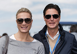 04.05.2014, Hockenheimring, Hockenheim, GER, DTM, 1. Lauf, Hockenheimring, Rennen, im Bild die deustche Skilegende Maria Hoefl-Riesch war mit ihrem Mann Marcus Hoefl zu Gast bei der DTM // during the 1th run of DTM at the Hockenheimring in Hockenheim, Germany on 2014/05/06. EXPA Pictures © 2014, PhotoCredit: EXPA/ Eibner-Pressefoto/ Neis<br /> <br /> *****ATTENTION - OUT of GER*****