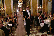 Lady Isabella Hervey with her escort Charles de Chabaneix du Chambon. Crillon Haute Couture Ball. Crillon Hotel, Paris. 2 December 2000. © Copyright Photograph by Dafydd Jones 66 Stockwell Park Rd. London SW9 0DA Tel 020 7733 0108 www.dafjones.com