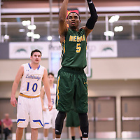 5th year guard Brandon Tull (5) of the Regina Cougars during the Men's Basketball home game on November 25 at Centre for Kinesiology, Health and Sport. Credit: Casey Marshall/Arthur Images