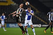 Notts County Terry Hawkridge (11) battles with Bristol Rovers defender Lee Brown (3) during the The FA Cup match between Notts County and Bristol Rovers at Meadow Lane, Nottingham, England on 3 November 2017. Photo by Jon Hobley.