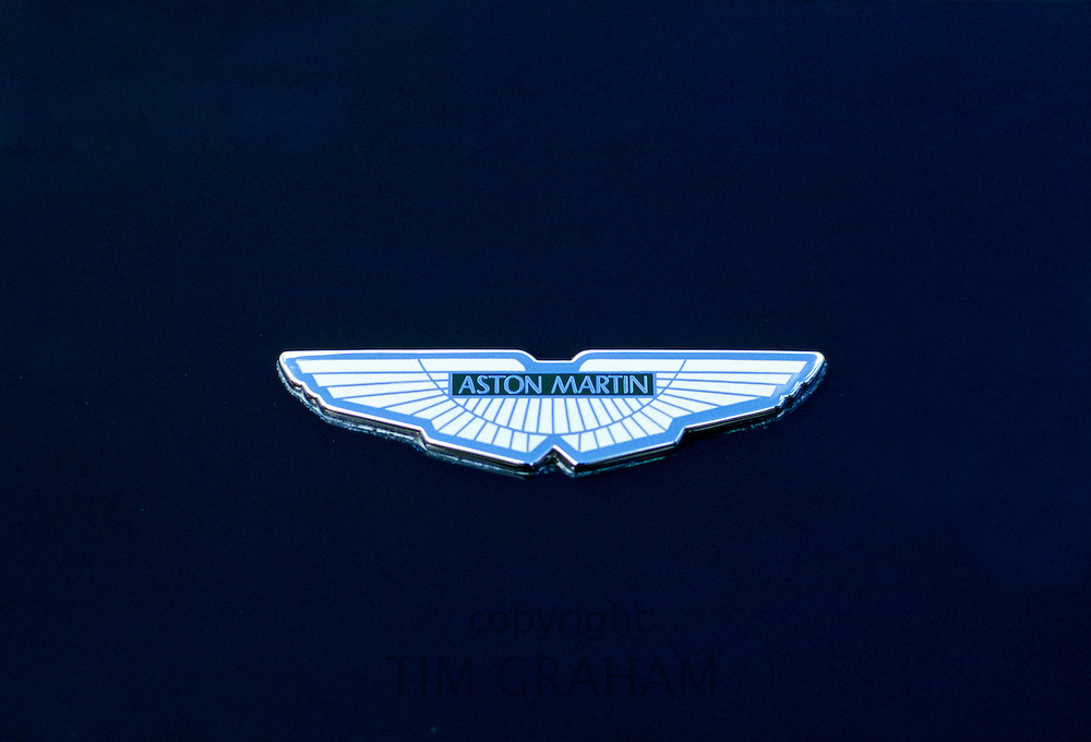 Aston Martin badge on a car