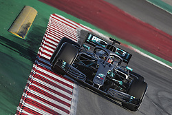 February 18, 2019 - Barcelona, Catalonia, Spain - LEWIS HAMILTON (GBR) from team Mercedes drives in his in his W10 during day one of the Formula One winter testing at Circuit de Catalunya (Credit Image: © Matthias Oesterle/ZUMA Wire)