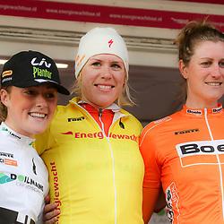 09-04-2016: Wielrennen: Energiewachttour vrouwen: Roden<br />LEEK (NED) wielrennen<br />De vijfde etappe van de Energiewachttour was een individuele tijdrit met start en finish in Leek. Ellen van Dijk was de sterkste in de tijdrit en nam de gele leiderstrui over van ploegmaatje Chantal Blaak. Zondag is de laatste etappe van de wedstrijd op het Duitse Waddeneiland Borkum