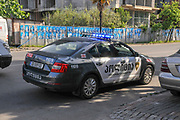 Police car in Batunai, Georgia