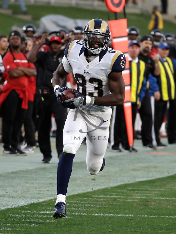 Los Angeles Rams wide receiver Brian Quick (83) during the first half of an NFL football game against the Atlanta Falcons, Sunday, Dec. 11, 2016, in Los Angeles. (AP Photo/Rick Scuteri)