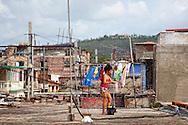 Rooftops in Holguin, Cuba.