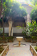 Bahia Palace riad garden courtyard space, Marrakesh, Morocco, 2016–04-21.