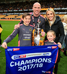 Free to use courtesy of Sky Bet - John Ruddy of Wolverhampton Wanderers and family celebrate after lifting the Sky Bet Championship 2017/18 league trophy - Mandatory by-line: Matt McNulty/JMP - 28/04/2018 - FOOTBALL - Molineux - Wolverhampton, England - Wolverhampton Wanderers v Sheffield Wednesday - Sky Bet Championship