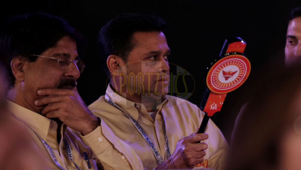 Shammi of Sunrisers Hyderabad during the Pepsi IPL Player Auction held at the ITC Gardenia in Bengaluru, India on the 12th February 2014<br /> <br /> Photo by Sandeep Shetty/BCCI/SPORTZPICS