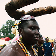 Portrait at Yam Festival by Antoinette Dumegah