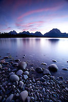 Scenic image of Jackson Lake in Grand Teton National Park, WY.