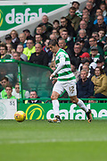 14th October 2017, Celtic Park, Glasgow, Scotland; Scottish Premiership football, Celtic versus Dundee; Celtic's Cristian Gamboa