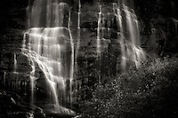 Bridal Veil Falls near Provo, Utah provides a scenic waterfall close to a bustling city atmosphere.