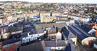 Panoramic of Richmond town centre, Yorkshire, UK