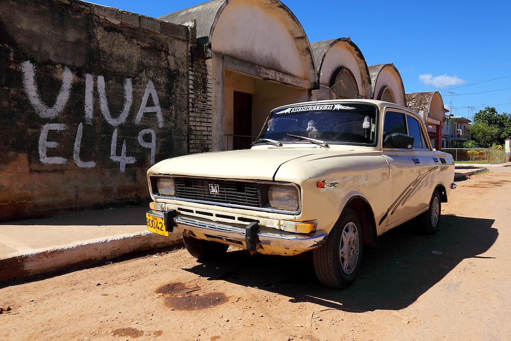 Car in San Antonio de los Banos, Artemisa Province, Cuba.
