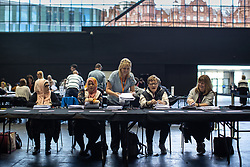 May 26, 2019 - Manchester, Greater Manchester, UK - Manchester, UK. The count for seats in the constituency of North West England in the European Parliamentary election , at Manchester Central convention centre  (Credit Image: © Joel Goodman/London News Pictures via ZUMA Wire)