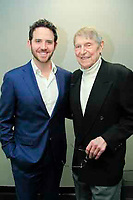 New York , NY March 28, 2017 : Symphony Space presents After Anatevka Tevye's Daughter's Beyond &quot;Tradition&quot; with readings and performance by Alexandra Silber and <br /> John Cullum, Jessica Fontana, Santino Fontana, Ron Raines, Daniel Rowan, Isabel Santiago and Ryan Silverman<br /> <br /> This image :   Santino Fontana with John Cullum<br /> <br /> .Photo Rahav Iggy Segev / Photopass.com