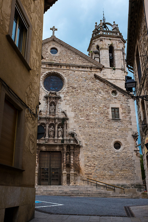 The church of Santa Maria de Moià, Catalonia