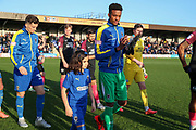 *** during the EFL Sky Bet League 1 match between AFC Wimbledon and Peterborough United at the Cherry Red Records Stadium, Kingston, England on 18 January 2020.