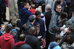 Bristol City's Jay Emmanuel-Thomas speaks with fans - Photo mandatory by-line: Dougie Allward/JMP - Mobile: 07966 386802 - 11/03/2015 - SPORT - Football - Bristol - Cabot Circus Shopping Centre - Johnstone's Paint Trophy