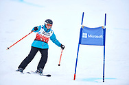 """Schladming, Austria - 2017 March 19: Kelly Toex from Luxembourg (219) competes in Alpine Skiing Competition while Special Olympics World Winter Games Austria 2017 on the """"Sepp-Walcher-Downhill""""<br /> (Slope 32) near the """"Tauernalm"""" in Rohrmoos on March 19, 2017 in Schladming, Austria.<br /> <br /> Mandatory credit:<br /> Photo by © Adam Nurkiewicz / Mediasport<br /> <br /> Adam Nurkiewicz declares that he has no rights to the image of people at the photographs of his authorship.<br /> <br /> Picture also available in RAW (NEF) or TIFF format on special request.<br /> <br /> Any editorial, commercial or promotional use requires written permission from the author of image.<br /> <br /> Image can be used in the press when the method of use and the signature does not hurt people on the picture."""