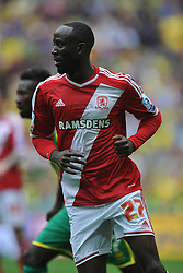 Albert Adomah Middlesbrough, Middlesbrough v Norwich, Sky Bet Championship, Play Off Final, Wembley Stadium, Monday  25th May 2015