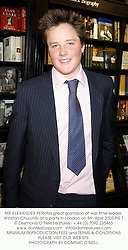MR ALEXANDER PERKINS great grandson of war time leader Winston Churchill, at a party in London on 8th April 2003.PIS 7
