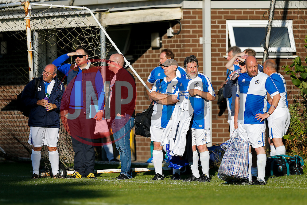 Bristol Rovers supporters look on - Mandatory by-line: Rogan Thomson/JMP - 13/07/2016 - SPORT - Football - Woodspring Stadium - Weston-super-Mare, England - Weston-super-Mare AFC v Bristol Rovers - Pre Season Friendly.