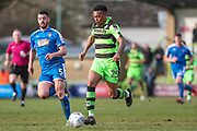 Forest Green Rovers Tahvon Campbell(25) runs forward during the EFL Sky Bet League 2 match between Forest Green Rovers and Notts County at the New Lawn, Forest Green, United Kingdom on 10 March 2018. Picture by Shane Healey.
