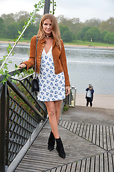 MILLIE MACKINTOSH at a party to launch the Taylor Morris Explorer Collection held at the Serpentine Lido, Hyde Park, London on 11th May 2016.