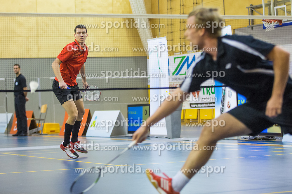 Alen Roj (BK Kungota) during 58th Slovenian national championship in badminton on Februar 1, 2015 in Zg. Kungota, Slovenia. (Photo By Grega Valancic / Sportida)