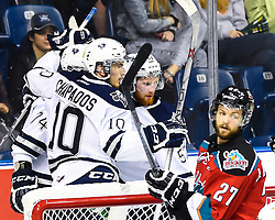 Game 4 action at the 2015 MasterCard Memorial Cup between the Kelowna Rockets and Rimouski Oceanic at Pepsi Colisee in Quebec City on Monday May 25, 2015. Photo by Aaron Bell/CHL Images