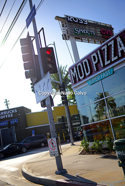 Mod Pizza restaurant in Venice, Los Angeles.