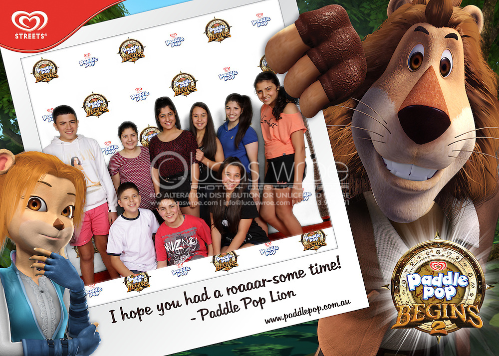 Paddel Pop Lion. Nickelodeon Slimefest Green Screen Photography. 2012. On Site Mobile Printing And Green Screen Event Photography By Lucas Wroe