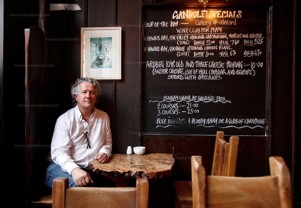Picture shows : Portrait of manager Seamus MacInnes..Cafe Gandolfi - Albion Street,Merchant City Area, Glasgow. Travel guide feature...Picture Drew Farrell. tel : 07721-735041......