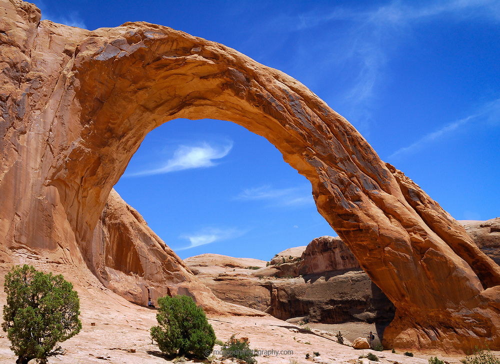 This is Corona Arch near Moab Utah. It is one of the largest arches in Utah.