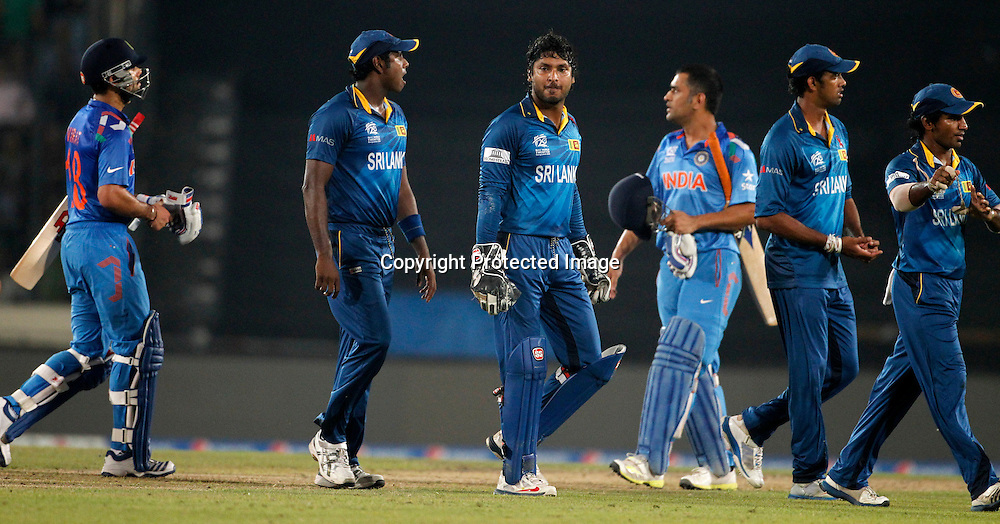 Virat Kohli is dismissed, ICC T20 cricket World Cup Final - Sri Lanka v India, Sher-e-Bangla National Cricket Stadium, Mirpur, Bangladesh, 6 April 2014. Photo: www.photosport.co.nz