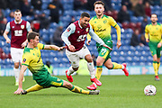 Burnley midfielder Aaron Lennon (25) tackled by the opponent during the The FA Cup match between Burnley and Norwich City at Turf Moor, Burnley, England on 25 January 2020.