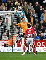 Photo: Steve Bond/Sportsbeat Images.<br /> Wolverhampton Wanderers v Bristol City. Coca Cola Championship. 03/11/2007. Adriano Basso safely gathers under pressure