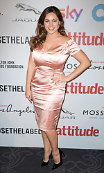 Kelly Brook attends the 2016 Attitude Awards in association with Virgin Holidays, at 8 Northumberland Avenue, London. Monday October 10, 2016. Photo credit should read: Isabel Infantes / EMPICS Entertainment.