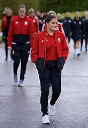CARDIFF, WALES - Thursday, April 4, 2019: Wales' Ffion Morgan during a pre-match team walk at the Vale Resort ahead of an International Friendly match between Wales and Czech Republic at Rodney Parade. (Pic by David Rawcliffe/Propaganda)