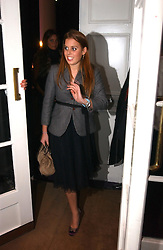PRINCESS BEATRICE OF YORK at a party hosted by jeweller Theo Fennell and Dominique Heriard Dubreuil of Remy Martin fine Champagne Cognac entitles 'Hot Ice' held at 35 Belgrave Square, London, W1 on 26th October 2004.<br />
