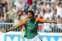 Fotball<br /> Bundesliga Tyskland 2003/2004<br /> Foto: Digitalsport<br /> <br /> 4:0 Jubel Nelson Haedo VALDEZ  Bremen<br /> Bundesliga SV Werder Bremen - FC Schalke 04