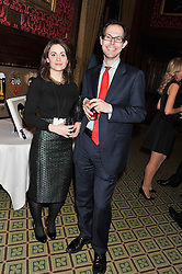 JOSH SPERO and EMILY ROOKWOOD at a gala dinner in aid of Nyumbani the Hot Courses Foundation held in The Members Dining Room,  The House of Commons, London on  7th March 2013.