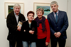 John Behan, Ester Morris, Marianne Heemskekr and Cllr. Declan Dever pictured at the opening of &quot;Sea, Sky and Weather&quot; new works on paper by Marianne Heemskerk, at the Custom House Studios Gallery.John Behan (RHA) preformed the official opening, the exhibition runs until the 16th of February.<br /><br />Pic Conor McKeown.